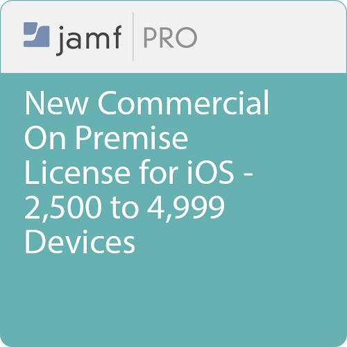 Jamf Commercial - New/  Jamf Pro On Premise  License for iOS - 2500 to 4999 Devices