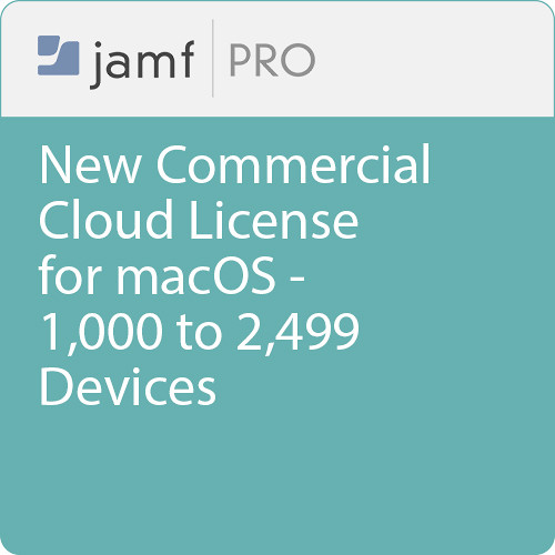 Jamf Commercial - New/  Jamf Pro Cloud  License for macOS - 1000 to 2499 Devices