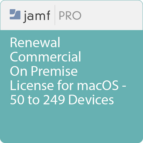 Jamf Commercial - Renewal/  Jamf Pro On Premise  License for macOS - 50 to 249 Devices
