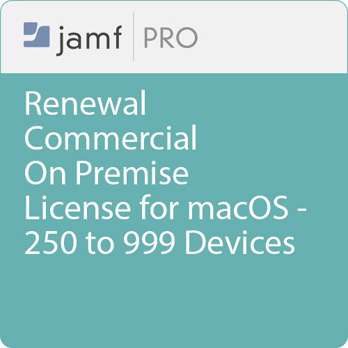 Jamf Commercial - Renewal/  Jamf Pro On Premise  License for macOS - 250 to 999 Devices