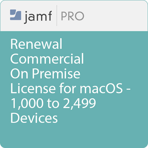 Jamf Commercial - Renewal/  Jamf Pro On Premise  License for macOS - 1000 to 2499 Devices