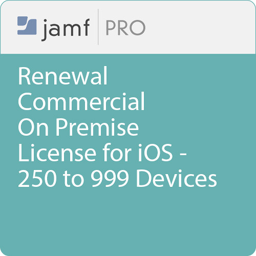 Jamf Commercial - Renewal/  Jamf Pro On Premise  License for iOS - 250 to 999 Devices