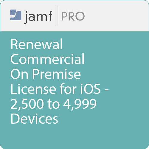 Jamf Commercial - Renewal/  Jamf Pro On Premise  License for iOS - 2500 to 4999 Devices