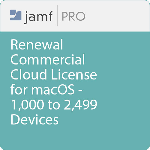 Jamf Commercial - Renewal/  Jamf Pro Cloud  License for macOS - 1000 to 2499 Devices