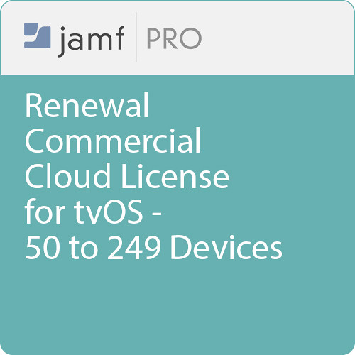 Jamf Commercial - Renewal/  Jamf Pro Cloud  License for tvOS - 50 to 249 Devices