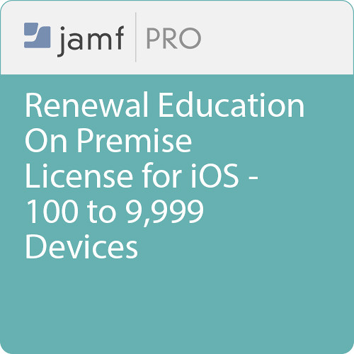 Jamf Education - Renewal/ Jamf Pro On Premise  License for iOS -100 to 9999 Devices