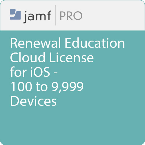 Jamf Education - Renewal/ Jamf Pro Cloud  License for iOS -100 to 9999 Devices
