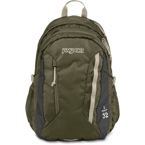 JanSport Agave 32L Backpack (Green Machine/Gray Tar)