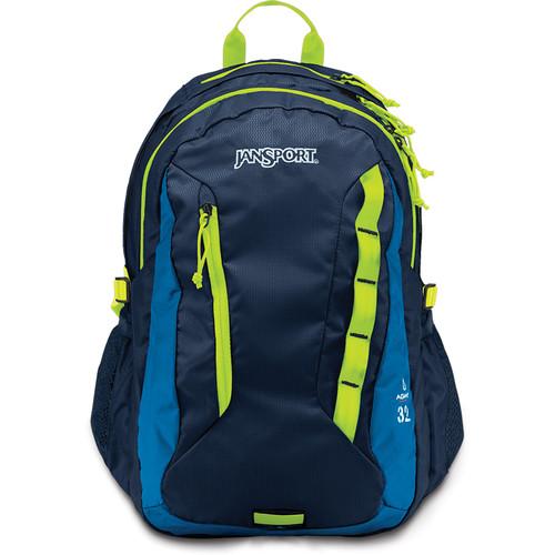 JanSport Agave 32L Backpack (Navy/Lime Punch)