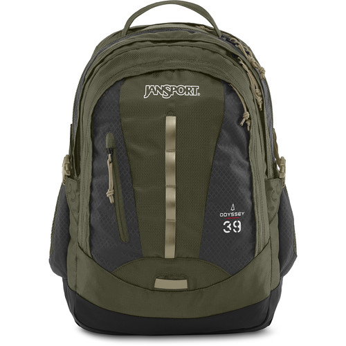 JanSport Odyssey Backpack (Green Machine / Gray Tar)