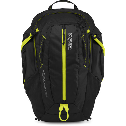 JanSport Equinox 40 43L Backpack (Black/Lime Punch)
