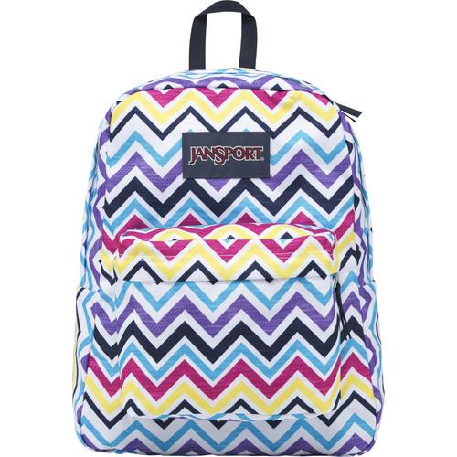 JanSport SuperBreak 25L Backpack (Multi Saucy Chevron)