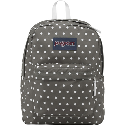 JanSport SuperBreak 25L Backpack (Shady Gray/White Dots)