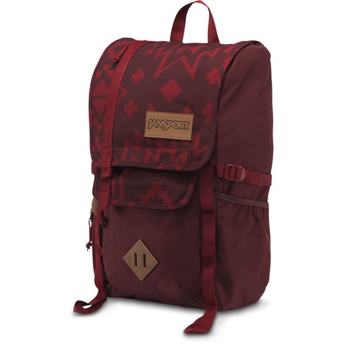 JanSport Hatchet 28L Backpack (Viking Red Crossroad)