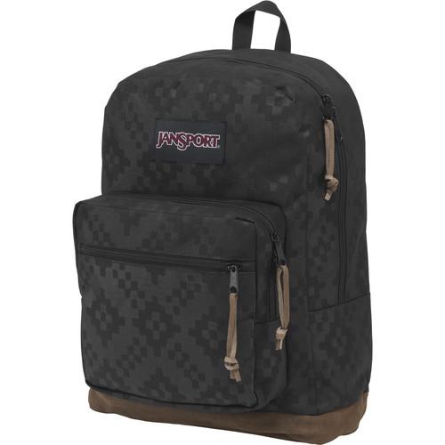 JanSport Right Pack Digital Edition 31L Backpack (Black Heat Embossed Ikat Squares)