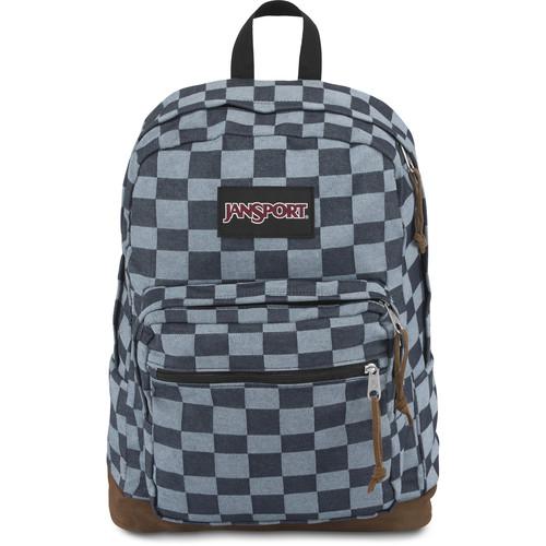 JanSport Right Pack Expressions 31L Backpack (Blue Checker Denim)