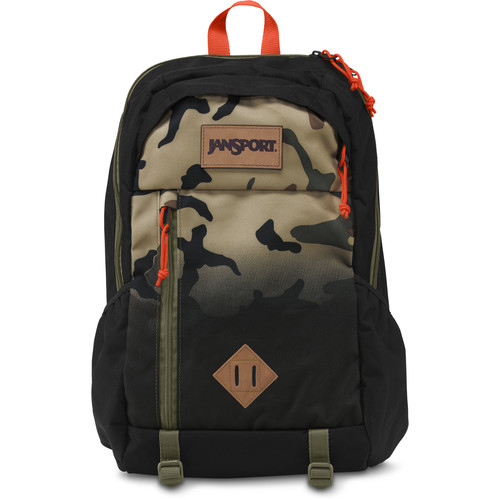 JanSport Fox Hole 25L Backpack (Black Camo Fade)