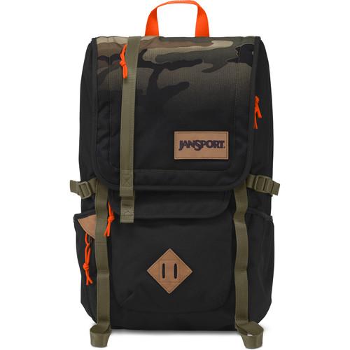 JanSport Hatchet 28L Backpack (Black Camo Fade)