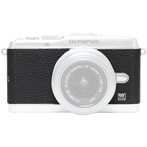 Japan Hobby Tool Camera Leather Decoration Sticker for Olympus PEN E-P3 Mirrorless Camera (4008 Black)