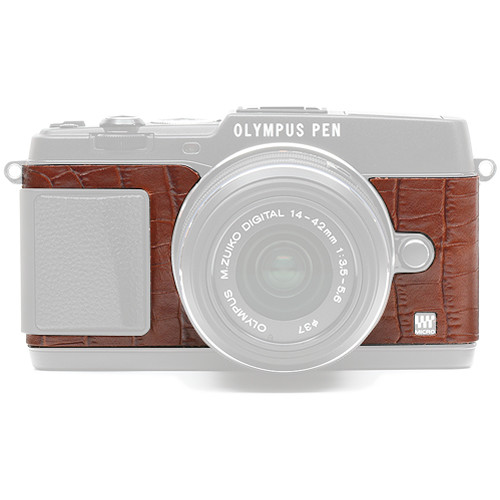 Japan Hobby Tool Camera Leather Decoration Sticker for Olympus PEN E-P5 Mirrorless Camera (Crocodile Brown)