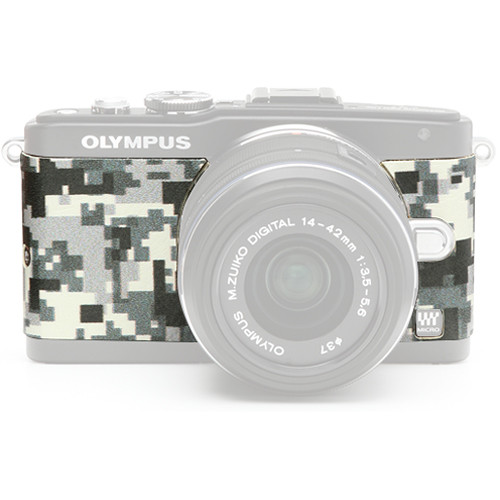 Japan Hobby Tool Camera Leather Decoration Sticker for Olympus PEN E-PL5, E-PL6 Mirrorless Cameras (Digital Camouflage)