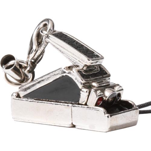Japan Hobby Tool Miniature Polaroid Camera Charm (Black Leather)