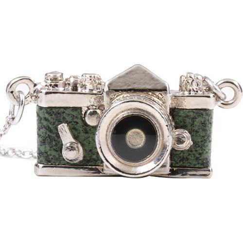 Japan Hobby Tool Miniature SLR Camera Necklace (Green)