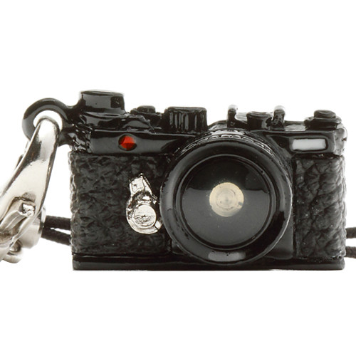 Japan Hobby Tool Miniature Range Finder Camera Charm (Black)