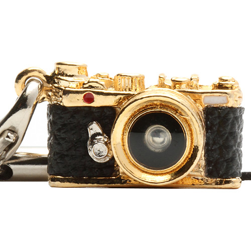 Japan Hobby Tool Miniature Range Finder Camera Charm (Gold)