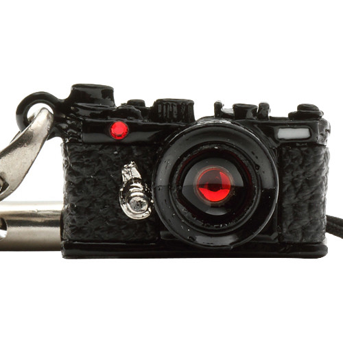Japan Hobby Tool Miniature Swarovski Range Finder Camera Charm (Black)