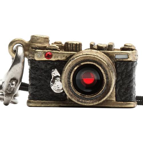 Japan Hobby Tool Miniature Swarovski Range Finder Camera Charm (Antique Brass)