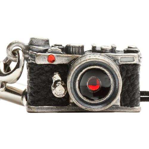 Japan Hobby Tool Miniature Swarovski Range Finder Camera Charm (Antique Silver)