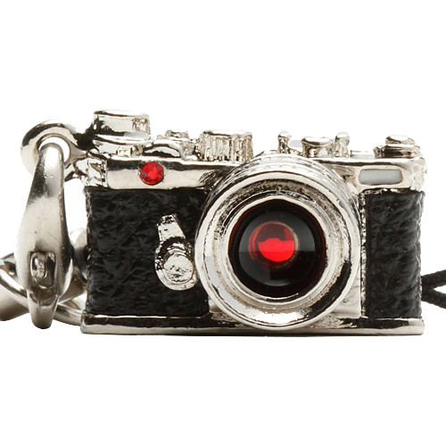 Japan Hobby Tool Miniature Swarovski Range Finder Camera Charm (Silver)