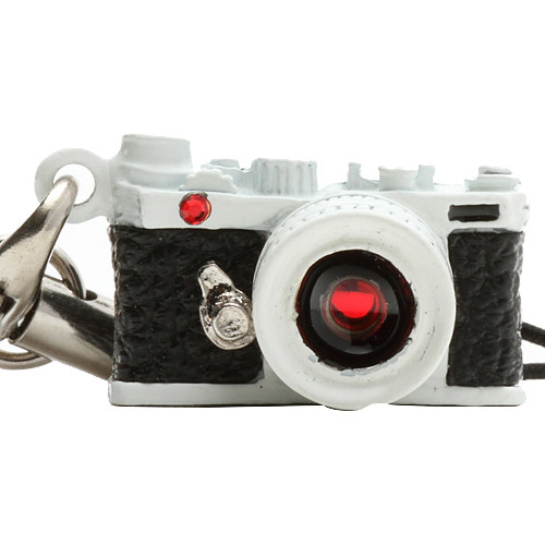 Japan Hobby Tool Miniature Swarovski Range Finder Camera Charm (White)