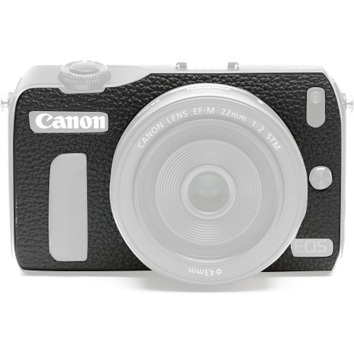 Japan Hobby Tool Camera Leather Decoration Sticker for Canon EOS M Mirrorless Camera (4040 Black)