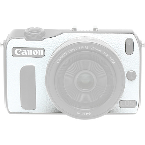 Japan Hobby Tool Camera Leather Decoration Sticker for Canon EOS M Mirrorless Camera (4308 White)