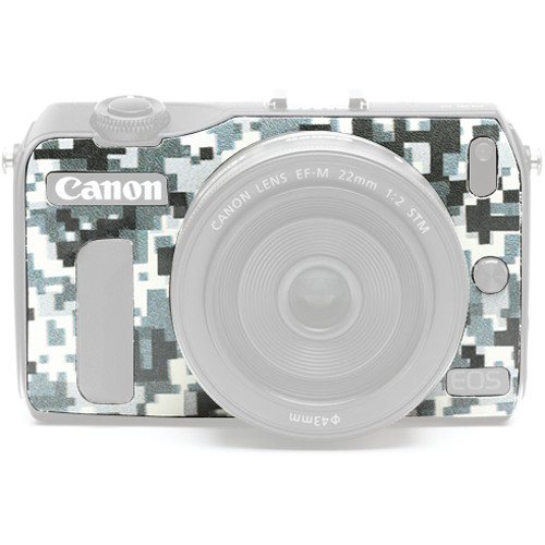 Japan Hobby Tool Camera Leather Decoration Sticker for Canon EOS M Mirrorless Camera (Digital Camouflage)