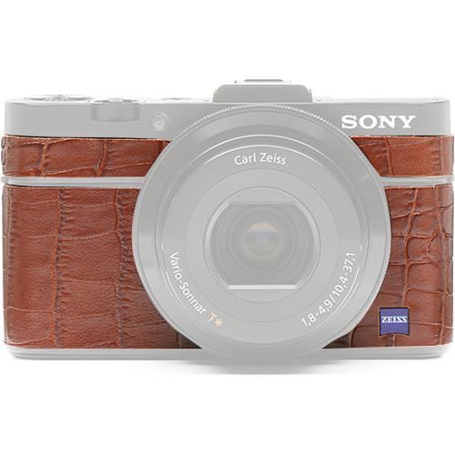 Japan Hobby Tool Camera Leather Decoration Sticker for Sony RX100 II Digital Camera (Crocodile Brown)