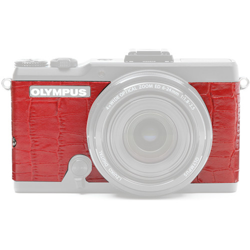 Japan Hobby Tool Camera Leather Decoration Sticker for Olympus Stylus XZ-2 Digital Camera (Crocodile Red)