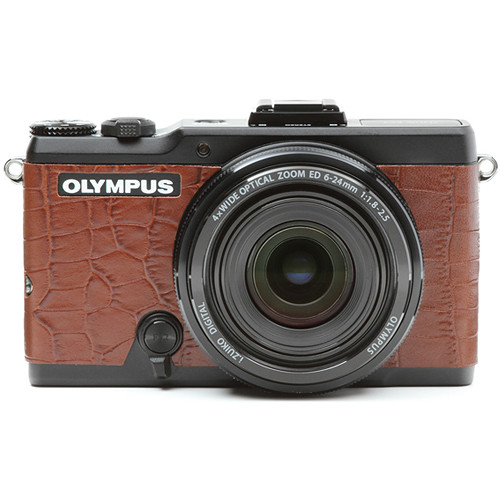Japan Hobby Tool Camera Leather Decoration Sticker for Olympus Stylus XZ-2 Digital Camera (Crocodile Brown)