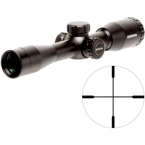 "Barra Optics H30 4x32 IR Hunting Riflescope (""A"" Illuminated Reticle, Matte Black)"