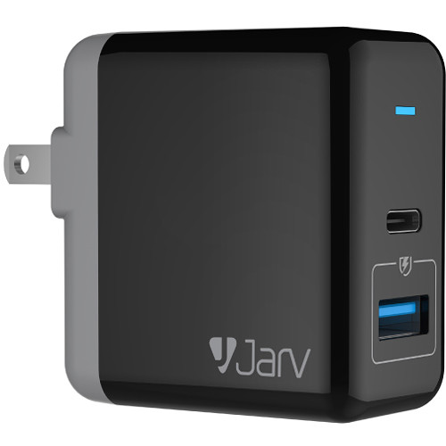 JarvMobile 3A Dual Port USB Type-C Smart Charger