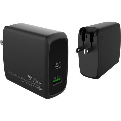 JarvMobile 60W 2-Port USB Type-C Quick Charge 3.0 Wall Charger