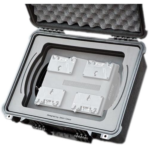 Jason Cases Protective Case for Four Anton Bauer D90 Batteries & LP4 Charger