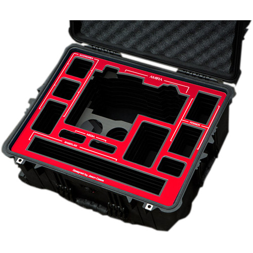 Jason Cases Hard Travel Case for ARRI AMIRA Kit (Red Overlay)