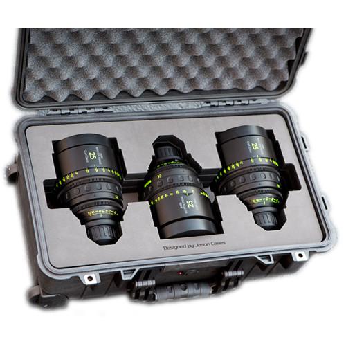 Jason Cases Protective Case for 3 Arri Zeiss Master Prime Lenses
