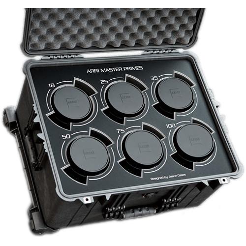 Jason Cases Protective Case for Set of 6 Arri Zeiss Master Prime Lenses