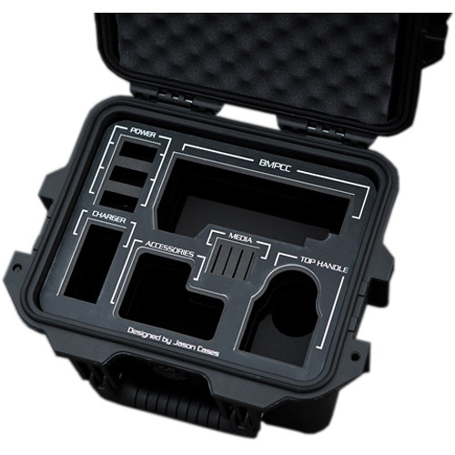 Jason Cases Hard Case with Custom Foam for Blackmagic Design Pocket Cinema Camera (Black Overlay)