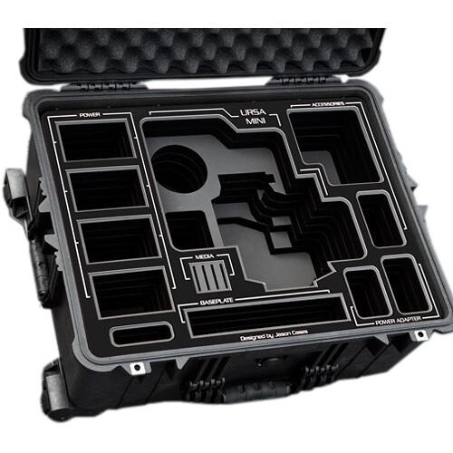 Jason Cases Hard Case with Custom Foam for Blackmagic Design URSA Mini Camera (Black Overlay)