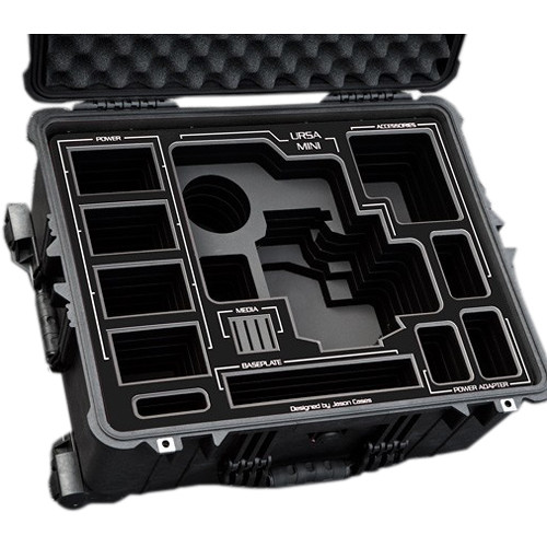 Jason Cases Hard Travel Case for Blackmagic URSA Mini Kit (Black Overlay)